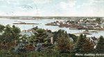 Boothbay Harbor, Maine, Town and Harbor View
