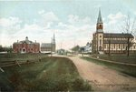 Calais, Maine, Convent Congregational Church and Catholic Church