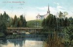 Dennysville, Maine, Lower Bridge and Congregational Church