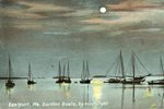 Eastport, Maine, Sardine Boats by Moonlight