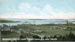 Freeport, Maine, Panorama of South Freeport, Casco Bay, and the Castle