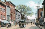 Auburn, Maine, Court Street with Trolley Car