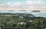 Bar Harbor, Maine, Porcupine Islands from Strawberry Hill