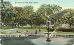 Bath, Maine, Fountain in Park