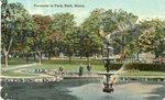 Bath, Maine, Fountain in Park