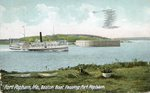 Phippsburg, Maine, Boston Boat Passing Fort Popham