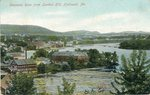 Hallowell, Maine, Kennebec River from London Hill