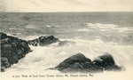 Mount Desert Island, Maine, View of Surf from Ocean Drive