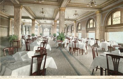 Portland congress square hotel dining room for U s senate dining room
