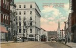 Portland, Maine, Congress Street, Showing First Parish Church, Masonic Temple, and City Hall