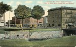 Lewiston, Maine, View of Haymarket Square from the Water Works, Showing New Bank Building