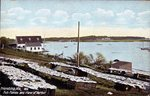Friendship, Maine, Fish Flakes and View of Harbor