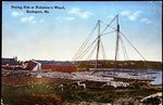 Bucksport, Maine, Drying Fish at Nicholson's Wharf