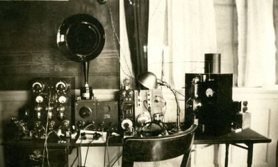 WLBZ Early Radio Equipment
