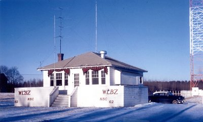 WLBZ Transmitter Building, circa 1956