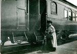 Mrs. Barns Boarding the Train
