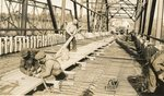 Palmyra, Maine, Men Working on Iron Bridge