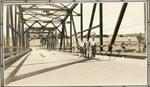 Presque Isle, Maine, Men Standing on a Bridge