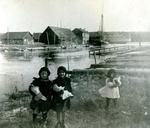 Winterport, Maine, Children Near Wharf
