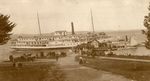 Bayside, Maine, Boston Boat at Wharf