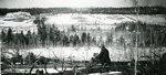 Millinocket, Maine, Man Looking at Fowler Farm and Location of Millinocket Mill