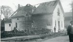 Addison, Maine, Methodist Church After Fire