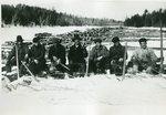 Grindstone, Maine, Logs Landed for Jordan Lumber Company