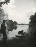 Augusta, Maine, Boat on Togus Pond by Franklin Eaton