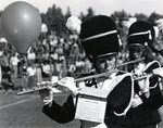 Flautist with balloon