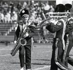 Band, girl with Tenor Sax