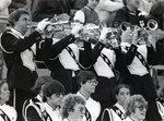 Band, 1978, trumpeters in the bleachers.