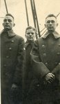 World War I, Three soldiers in greatcoats.